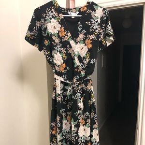 ASOS FLORAL MID LENGTH DRESS